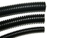"3/8"" Diameter Split Loom Conduit - Black Polyethylene"