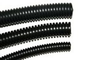 "1"" Diameter Split Loom Conduit - Black Polyethylene"