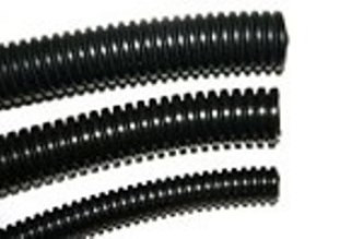 "1/4"" Diameter Split Loom Conduit - Black Polyethylene"