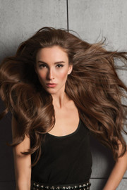 HairDo Extension - Invisible Extension (#HDINVE) - Ginger Brown (R830) - front