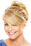 Christie Brinkley Wig - Thick Braid Headband (CBTBHB) front 1