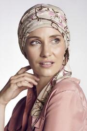 Christine Headwear - Akina Long Printed Scarf Magnolia Beige (0436)