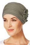Christine Headwear - Lotus Turban Brown Green (0338)