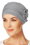 Christine Headwear - Lotus Turban Grey Melange (0169)