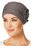 Christine Headwear - Lotus Turban Grey Brown (0253)