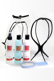 Wig Care Kit - TressAllure - Home Care Kit - Shampoo, Conditioner, Finishing Mist, Brush, Wig Stand