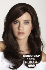 Human Hair Mono Long Remy (#CH-5000R) Front