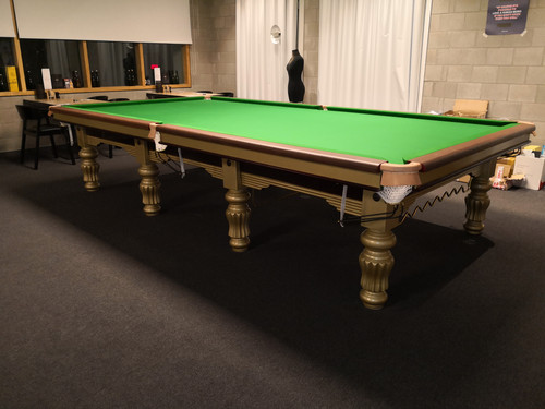 12 foot steeelblock  snookertable Gold 2