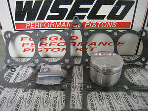 L1204cc Kit 12030M77546 Pistons, Rings, Wrist Pins, 4 Clips (packs of 2)  Head & Base Gasket included  Old Wiseco Part Number 4588PS