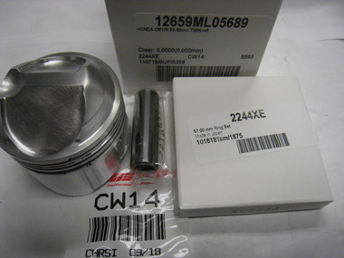 Honda CB160, CB175, AHRMA, 56.90mm  LS Big Bore Piston Kit, 12659ML05689