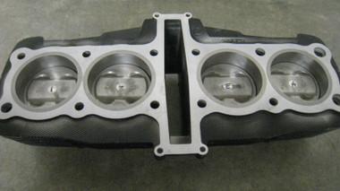 NOTE: Yamaha FJ1100 & FJ1200 blocks DO NOT require crankcase boring when using a cylinder with our custom sleeves installed. Yamaha XJR1250cc (1300) refurbished block with custom sleeves Yamaha XJR1250cc (1300) Pistons (New) Yamaha XJR1250cc (1300) Rings (New) Piston Ring gaps are set and ready for installation