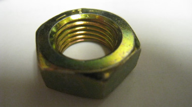 "1/2""-20 RH G-8 Yellow Zinc Hex Jam Nut"