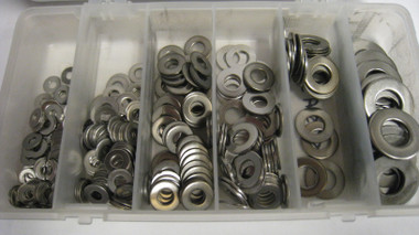 Stainless Flat Washer Kit 350 Pieces