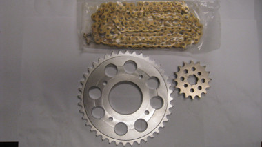 """""""lite weight"""" 415 chain kit for the Honda CB175 AHRMA Road Racers"""