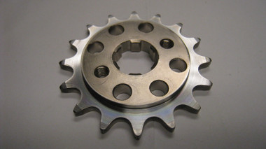 NOTE: We would like to explain the price on the 415 front sprocket. These are not available so we purchase a 428 and modify it in house to work with our 415 light weight kit. The extra  machining time is what adds cost