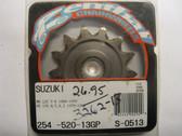 Renthal Ultralite Front Sprocket 254-520-13GP, Suzuki RM125 80-07, PE175 79-82