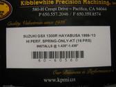 Engine Product, Suzuki Hayabusa, GSX-1300R 99-14 Hi-Perf Kibblewhite Valve Spring Kit 60-60560