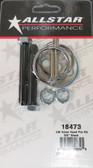 "Hood Pin Kit, Allstar Aluminum 3/8 x 2.5"", 18473, Black Andrews Motorsports, Legends Race Car"