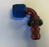 Fitting,  XRP, Twist-Tite 8AN x 90 Degree Hose End Red, 239008