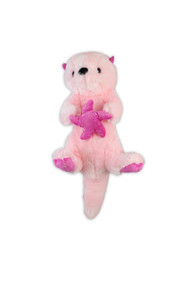 Pink Sea Otter Stuffy 6.5""