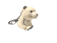 Polar Bear with Light Key Ring