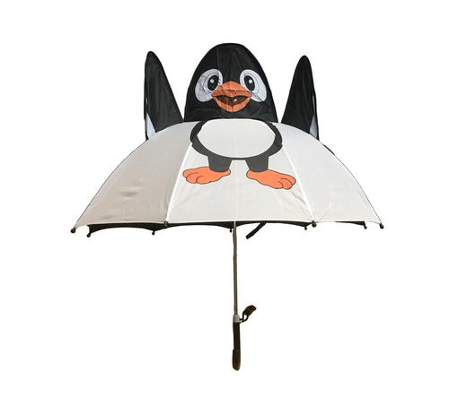 Cute 3D designed penguin umbrella in white and navy.