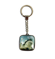 Square key ring designed with sea lion.