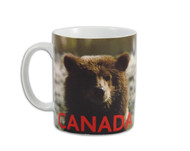 Canadian bear mug with CANADA on lower section.