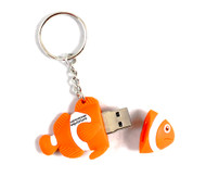 Clownfish USB and doubles as a key ring.