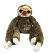 "Large 30"" hanging sloth stuffy with two long arms dangling down to it's feet."