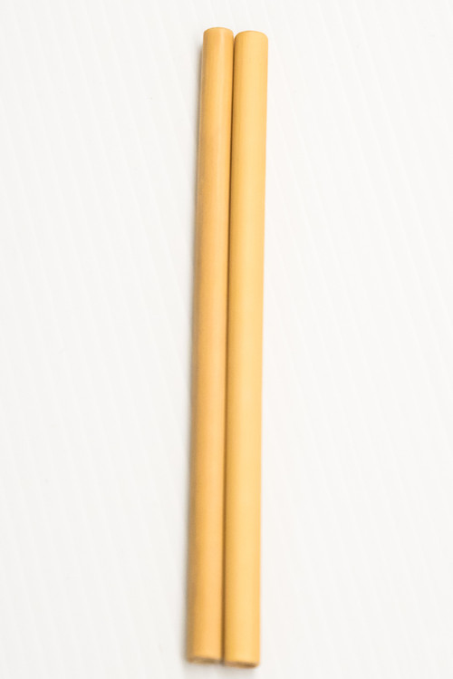 Reusable bamboo drinking straw, single