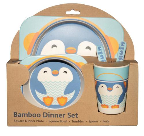 Penguin Bamboo dinner set