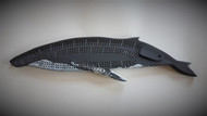 Hand carved humpback whale crib board with pegs