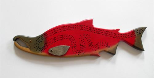 spawning Sockeye Salmon Crib Board with pegs