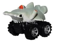 Hammerhead shark pull back toy car