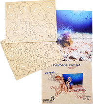 3D postcard puzzle octopus