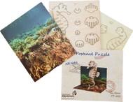 3D wood postcard puzzle sea horse