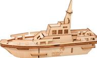 3D wood puzzle life boat