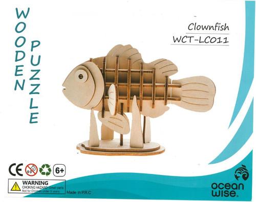 3D wood clownfish puzzle
