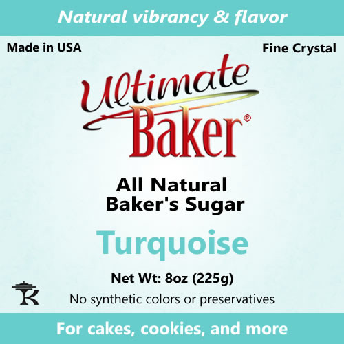 Ultimate Baker Natural Baker's Sugar Turquoise (1x8oz Bag)
