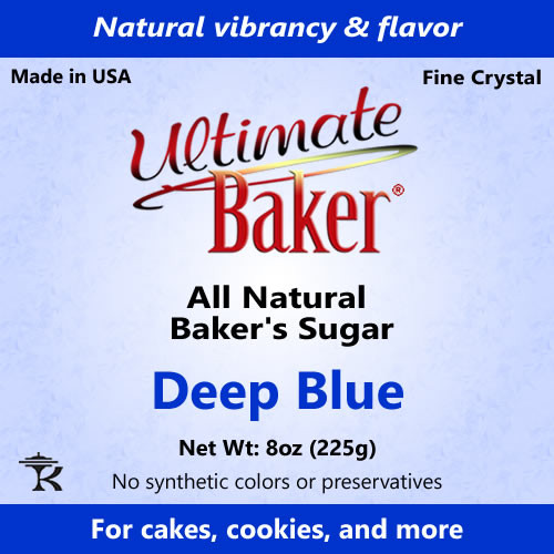 Ultimate Baker Natural Baker's Sugar Deep Blue (1x8oz Bag)