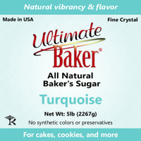 Ultimate Baker Natural Baker's Sugar Turquoise (1x5lb)