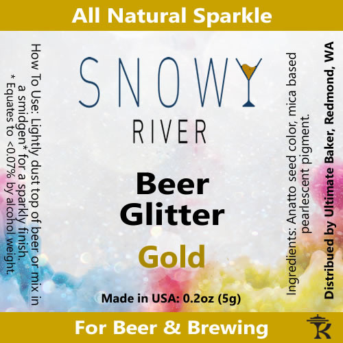Snowy River Gold Beer Glitter (1x5.0g)