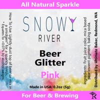 Snowy River Pink Beer Glitter (1x5.0g)