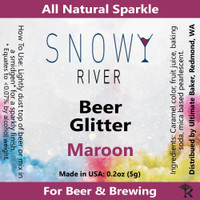 Snowy River Maroon Beer Glitter (1x5.0g)