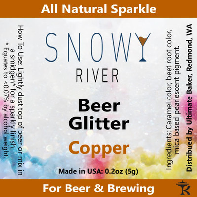 Snowy River Copper Beer Glitter (1x1oz)