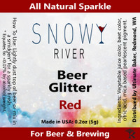 Snowy River Red Beer Glitter 1x1oz)