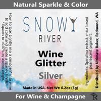 Snowy River Silver Wine Glitter (1x1oz)
