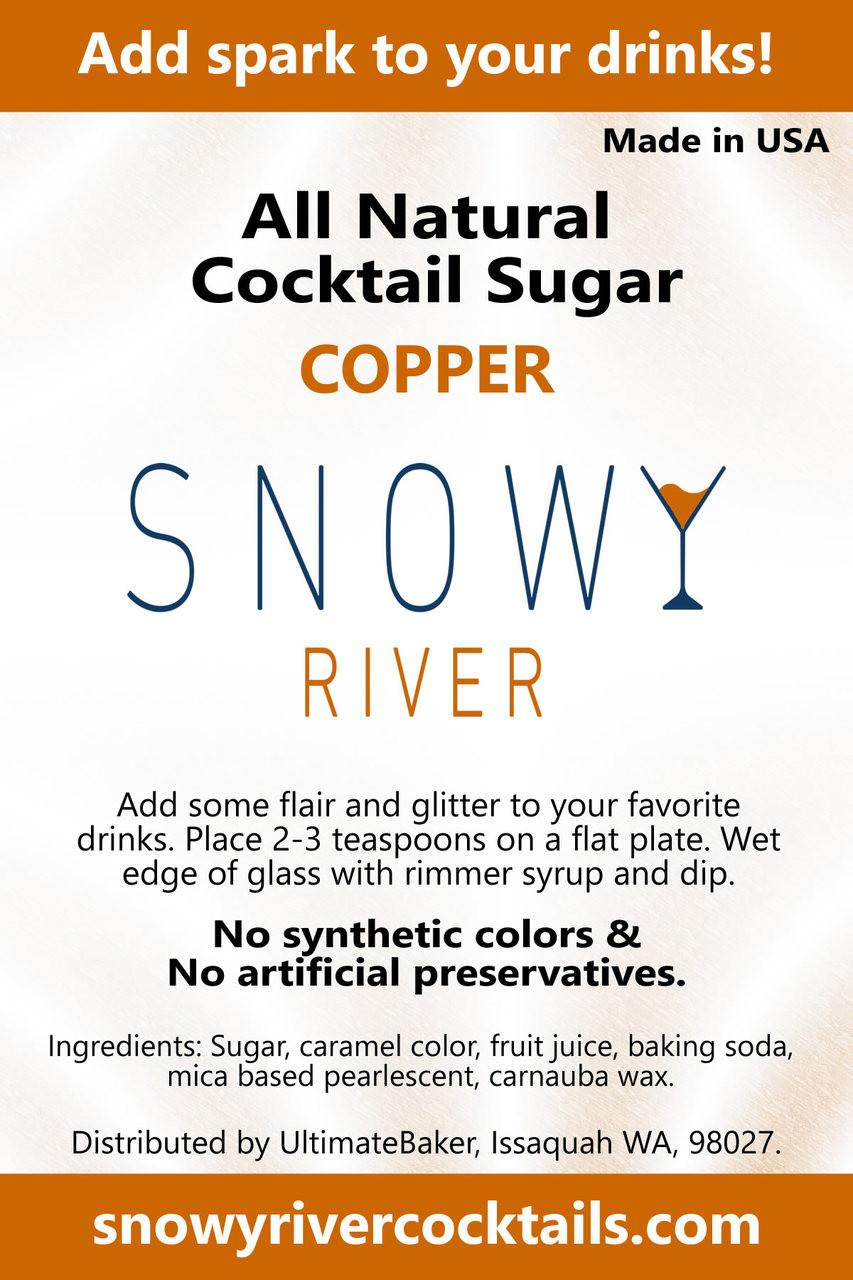 Snowy River Cocktail Sugar Copper Shine (1x1lb)