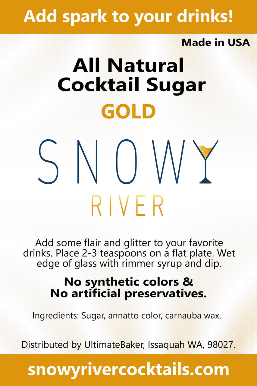 Snowy River Cocktail Sugar Gold Shine (1x8oz)